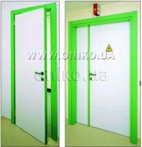 Двері рентгенозахисні для рентгенівських кабінетів ОНІКО