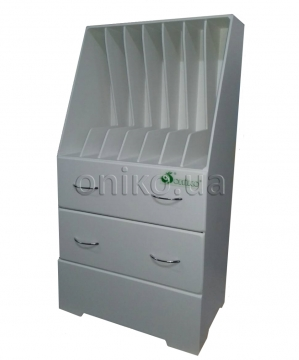 Stationary magazine carrying case having drawers ONIKO